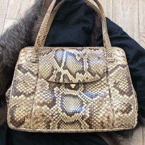Vintage python handbag